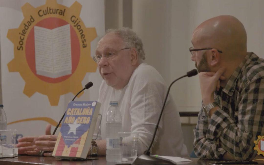 Presentación del llibru 'Cataluña Año 0' a cargo de su autor, Ernesto Ekaizer