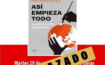 """Aplazada la presentación del libro de Esteban Henández """"Así empieza todo"""""""