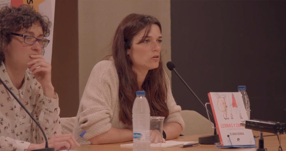 Clara Serra en la presentación del Libro 'Leonas y Zorras: Estrategias Políticas Feministas'