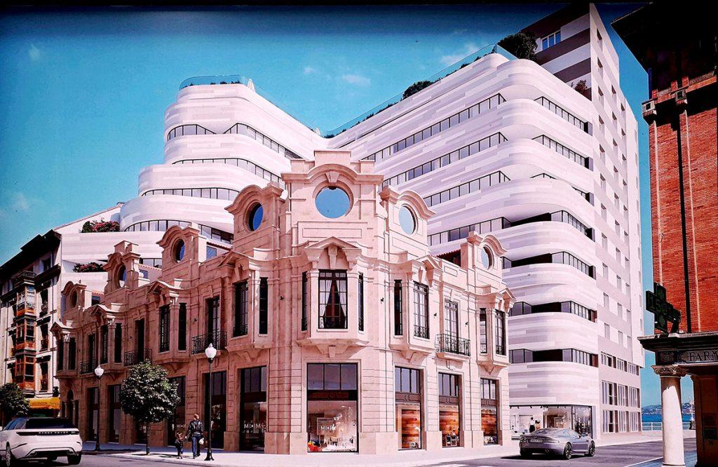 Maqueta del proyecto para la calle San Bernardo en Xixón