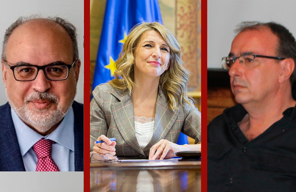 Enric Juliana, Yolanda Díaz y Esteban Fernández